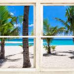 """Tropical Island Rustic Window View"" by lightningman"