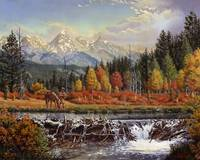 Mountain Man Trapper Western Mountain Landscape