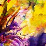 """Abstract Floral Spray Intuition Watercolor"" by GinetteCallaway"