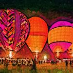 """""""Glowing Hot Air Balloons In Abstract"""" by Kirtdtisdale"""