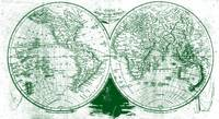 World Map (1811) White & Green