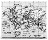 World Map (1899) White & Black