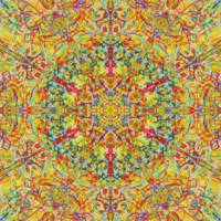 Painterly Hot And Southern Kaleidoscope
