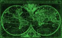 World Map (1691) Black & Green