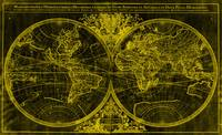 World Map (1691) Black & Yellow