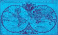 World Map (1691) Blue & Purple