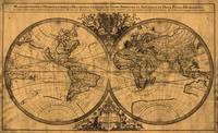 World Map (1691) Light Brown & Black