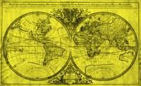 World Map (1691) Yellow & Black