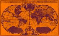 World Map (1691) Orange & Purple