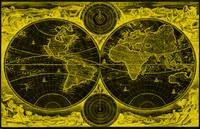 World Map (1730) Black & Yellow