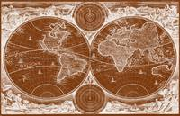 World Map (1730) Brown & White