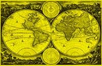 World Map (1730) Yellow & Black