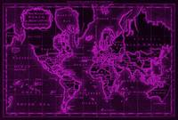 World Map (1766) Black & Pink