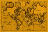 World Map (1766) Orange & Black