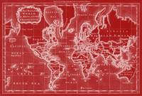 World Map (1766) Red & White