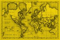 World Map (1766) Yellow & Black
