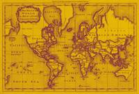World Map (1766) Yellow & Purple