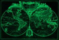 World Map (1775) Black & Green