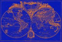World Map (1775) Blue & Orange