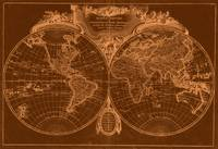 World Map (1775) Brown & Light Brown