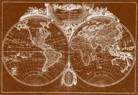 World Map (1775) Brown & White