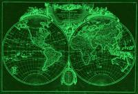 World Map (1775) Green & Light Green