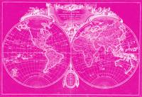 World Map (1775) Pink & White