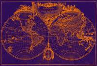 World Map (1775) Purple & Orange