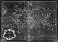 World Map (1778) Black & White