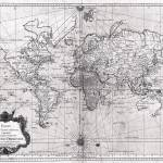 """World Map (1778) White & Black"" by Alleycatshirts"