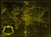 World Map (1778) Black & Yellow
