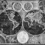 """World Map (1794) Black & White"" by Alleycatshirts"