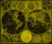 World Map (1794) Black & Yellow