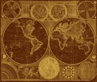 World Map (1794) Brown & Light Brown