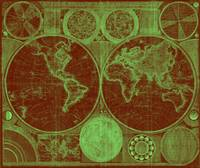 World Map (1794) Red & Light Green