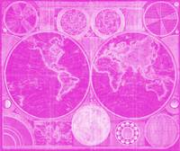 World Map (1794) Pink & White