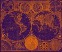 World Map (1794) Purple & Orange