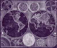World Map (1794) Purple & White