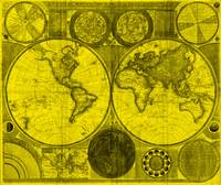 World Map (1794) Yellow & Black