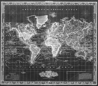 Vintage Map of The World (1833) Black & White