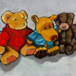 """Teddy Bears and Stuffed Animals: Oil Pastel"" by joyart"