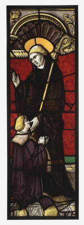 Benedictine Abbot Saint with a Donor, about 1510 -