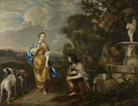 Double portrait of a young couple as Granida and D