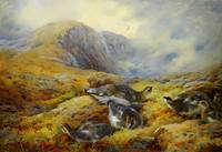 Archibald Thorburn Danger aloft - Ptarmigan