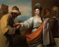 Benjamin West - Isaac's servant tying the bracelet