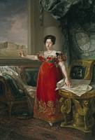 Maria Isabel of Portugal in front of the Prado in