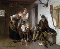 Adolf Eberle  (Munich 1843-1914)  Return of the hu