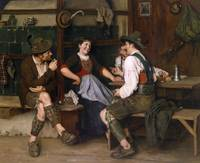 Emil Rau  (Dresden 1858-1937)  Tempting offer