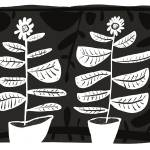 """potted sunflowers on black"" by pfleghaar"