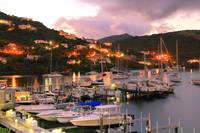 Evening Twilight at Oyster Pond, St. Martin